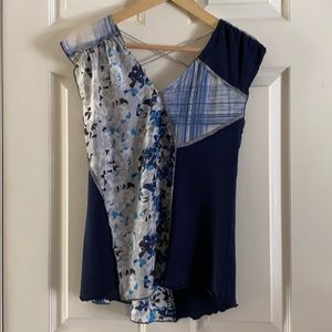 Flower my top silk and cotton  blend